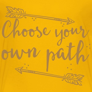 choose your own path with arrow Shirts - Kids' Premium T-Shirt