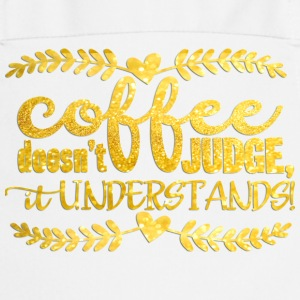 Coffee doesn´t judge- it understands Delantales - Delantal de cocina