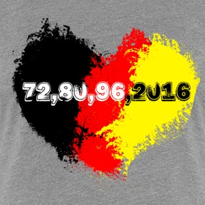 germany herz 72.... T-Shirts - Frauen Premium T-Shirt