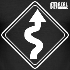RealRoads Bends Ahead Slim Fit T shirt - Men's Slim Fit T-Shirt