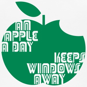 An Apple a day keeps Windows Away Tops - Frauen Bio Tank Top