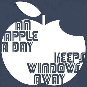 An Apple a day keeps Windows Away Langarmshirts - Männer Premium Langarmshirt