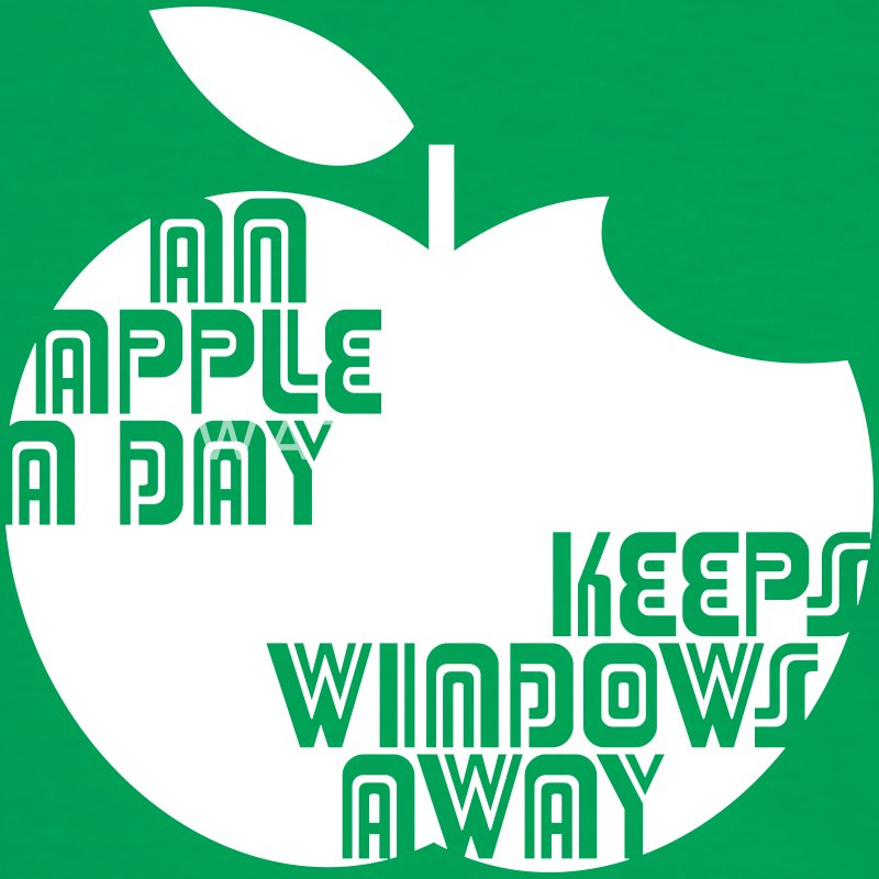 An Apple a day keeps Windows Away T-Shirts - Männer Kontrast-T-Shirt