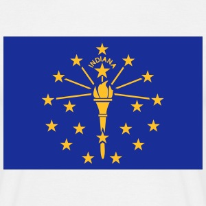 Flag Indiana T-shirts - Herre-T-shirt