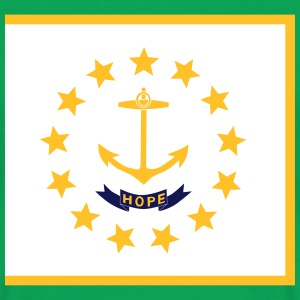 Flag Rhode Island T-Shirts - Men's T-Shirt