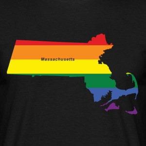 massachusetts rainbow flag T-Shirts - Men's T-Shirt