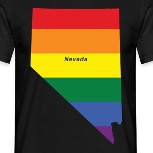 nevada rainbow flag T-Shirts - Men's T-Shirt