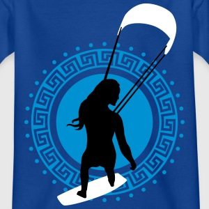 kite_surfing_woman_062016a_3c T-Shirts - Kinder T-Shirt