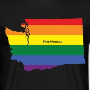 washington rainbow flag T-Shirts - Men's T-Shirt