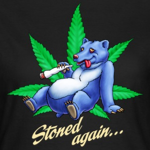 Saufen Kiffen Design stoned Bear T-Shirts - Frauen T-Shirt
