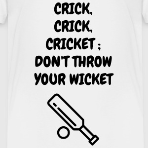 Cricket - Cricketer - Sport - Kricket - Wicket Shirts - Kinderen Premium T-shirt