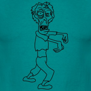 running zombie ga lelijke comic cartoon grappig ha T-shirts - Mannen T-shirt