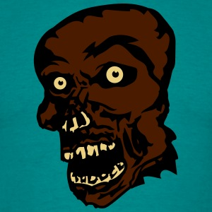 zombie face head undead horror monster halloween T-Shirts - Men's T-Shirt