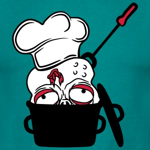 zombie food cook cooking chef, master grill head p T-Shirts - Men's T-Shirt