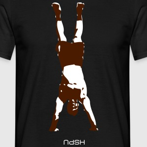 Hand stand push up design Tee shirts - T-shirt Homme