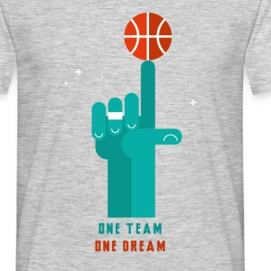 Basket, one team one dream - T-shirt Homme