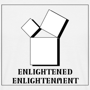 Enlightened Enlightement - Triple Square - B&W T-Shirts - Männer T-Shirt