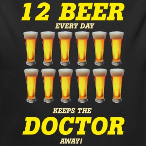 AD - 12 beer every day keeps the doctor away - Alkohol fun Motiv - RAHMENLOS Geburtstag Geschenk Baby Bodys - Baby Bio-Langarm-Body
