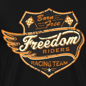 SSD Born Free Freedom Riders Racing Team - RAHMENLOS Biker Motorcycle Design T-Shirts - Männer Premium T-Shirt
