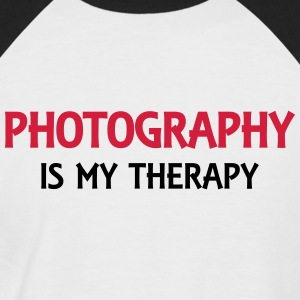 Photography is my therapy T-shirts - Mannen baseballshirt korte mouw