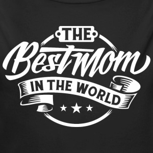 BD - The Best Mom in the World retro white Design - RAHMENLOS Geburtstag Geschenk Baby Bodys - Baby Bio-Langarm-Body