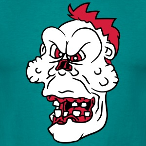 undead face head evil disgusting monster horror ha T-Shirts - Men's T-Shirt