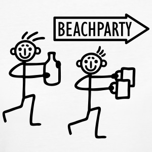 2 Strichmännchen  - Beachparty T-Shirts - Frauen Bio-T-Shirt