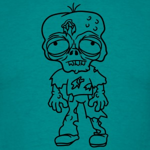 sad tired zombie funny face head undead horror mon T-Shirts - Men's T-Shirt