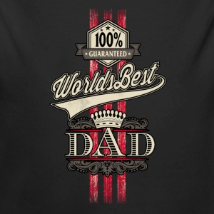 RAHMENLOS Geschenk Vatertag - Herrentag - Worlds Best Dad red gold crown Baby Bodys - Baby Bio-Langarm-Body