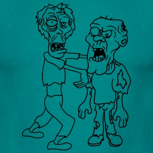 opas grappig 2 buddies team party crew zombies zom T-shirts - Mannen T-shirt
