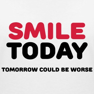 Smile today T-Shirts - Women's V-Neck T-Shirt