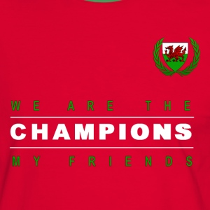 Wales Champions men red+green - Men's Ringer Shirt