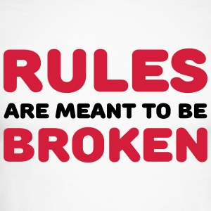 Rules are meant to be broken Long sleeve shirts - Men's Long Sleeve Baseball T-Shirt
