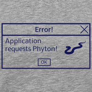 T-Shirt Phyton Required - Männer Premium T-Shirt