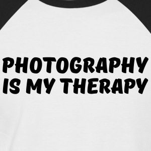 Photography is my therapy Tee shirts - T-shirt baseball manches courtes Homme