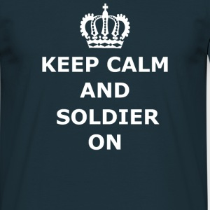 Keep Calm & Soldier On - Men's T-Shirt