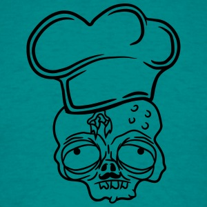 head zombie bbq food cook cooking chef, master gri T-Shirts - Men's T-Shirt