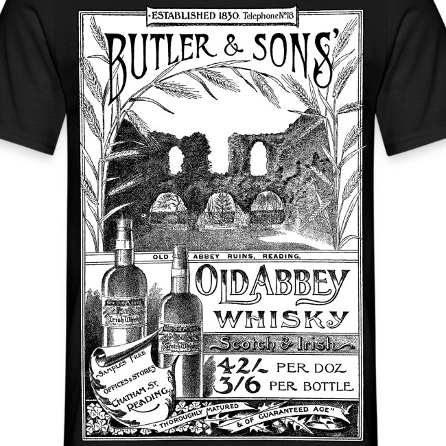 Butler's Old Abbey Whisky, Reading (Front)