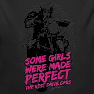Girls were made Perfect auf weiß - RAHMENLOS Biker Shirt Geschenk Design Baby Bodys - Baby Bio-Langarm-Body