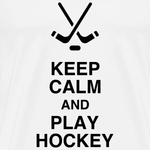 Hockey - Cross - Eishockey - Skater - Ice Hockey T-shirts - Premium-T-shirt herr