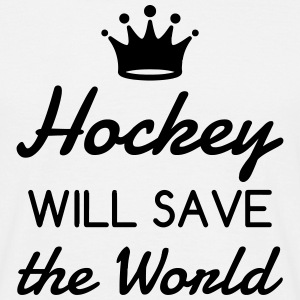 Hockey - Cross - Eishockey - Skater - Ice Hockey T-shirts - T-shirt herr