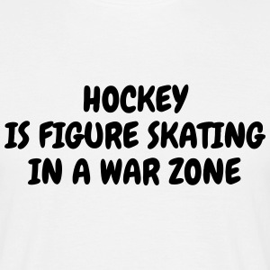 Hockey - Cross - Eishockey - Skater - Ice Hockey T-Shirts - Men's T-Shirt