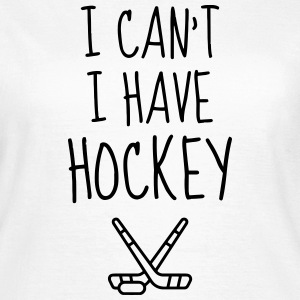 Hockey - Cross - Eishockey - Skater - Ice Hockey T-shirts - Dame-T-shirt