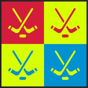 Hockey - Cross - Eishockey - Skater - Ice Hockey Grembiuli - Grembiule da cucina
