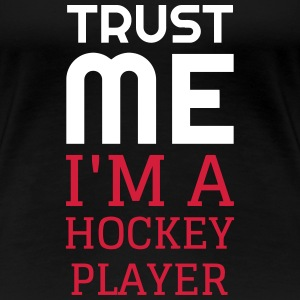 Hockey - Cross - Eishockey - Skater - Ice Hockey T-shirts - Premium-T-shirt dam