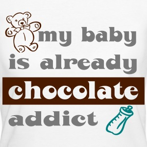 Tee shirt bio pour femmes My baby is already choc - T-shirt Bio Femme