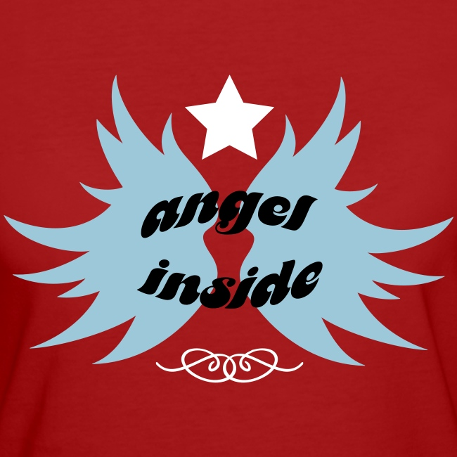 "Tee shirt Bio Femme ""Angel Inside"""