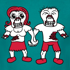 happy couple in love love couple woman man undead  T-Shirts - Men's T-Shirt