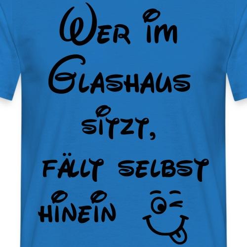 Glashaus sitzt