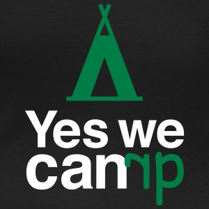 yes we camp T-Shirts - Women's Scoop Neck T-Shirt